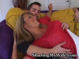 Glückliches Paar Sucht Junge Schwanz Frau Zu Gefallen