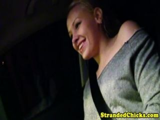 Ankuppeln Blonde Teen Packt Fahrer Hahn