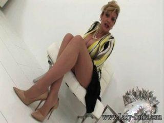 Dame Sonia Meine Freunde Mann Die Strumpfhose Pervertieren