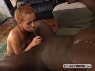 Sexy Blondine In Den Arsch Von Einem Riesigen Schwarzen Schwanz Bmp-05.03 Gefickt