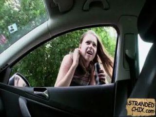 Gestrandet Teen Babe Fickt Für Fahrt Nach Hause Marina Visconti.1