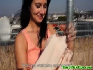 Brünette Blinkt Pussy Und Esel Nahm