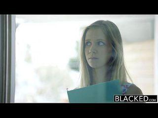 Blacked Petite Blonde Teen Rachel James Ersten Großen Schwarzen Schwanz