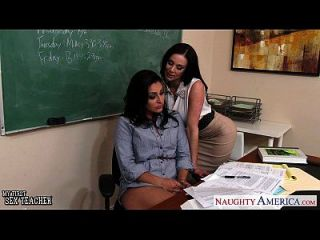 Busty Lehrer Gracie Glam, Kendra Lust Sharing Student