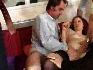 Französisch Frau Ficken Mit 4 Männer - Gang Bang