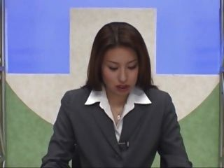 Japanisch Nachrichtensprecher Bukkake
