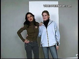 Lesbische Jugendliche Erste Video Casting