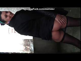 Hot Girl In Strumpfhosen Tut Arsch Ficken Für Bargeld
