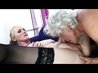 Oma Norma Lesbische Liebe Zu Dritt Wieder