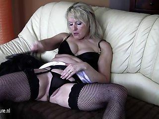 Alte Blonde Reife Schlampe Mutter Liebt Ein Klirren Zu Nehmen