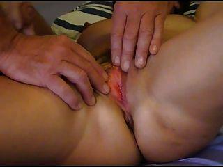 Riesige Spunking Cum über Pussy Orgasming