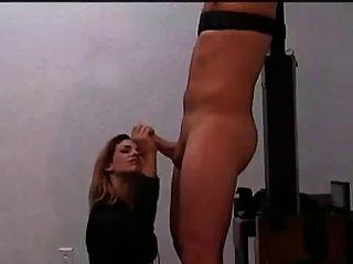 Gebunden Wichsen Und Langen Post Orgasmus Folter
