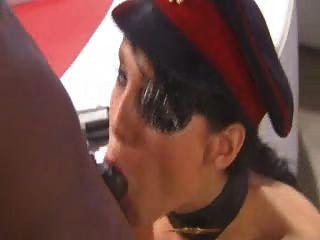 Victoria Sin Fetisch Hündin Auf Harten Schwarzen Schwanz Für Gesichts