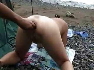 Japanisch Extreme Ew Tief Anal Fisting Am Strand