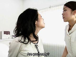 Japanisch Lesbische Erotische Spucken Massage Klinik Untertitelt