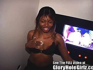 Ebenholz Mädchen Bekommt Eine Fremde Creampie In Tampa Gloryhole