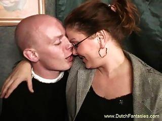 Hässliches Niederländisches Milf Mit Brille Hardcore