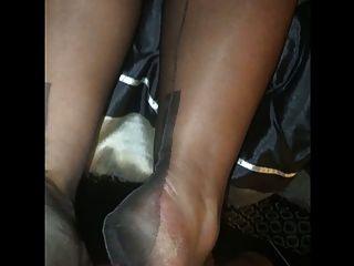 Nylon Strumpf Fuß Job