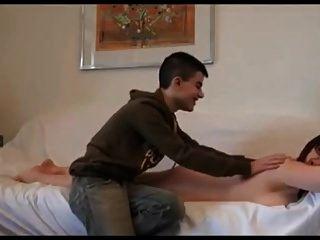 Reife Mollige Latina Frau Bläst Ihren Jungen Liebhaber