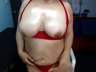 Schöne Granny Auf Webcam R20