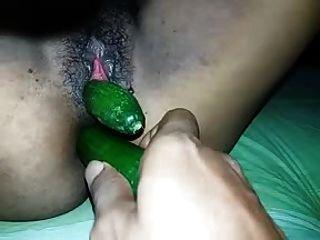 Sri Lanka Mädchen Gefickt Beide Löcher Gurke