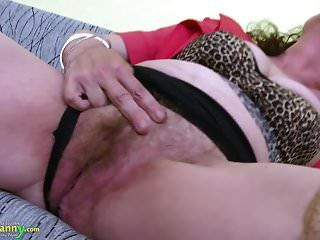 Oldnanny Große Reife Behaarte Pussy Spielzeug Masturbation
