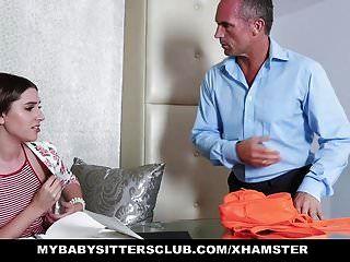 Mybabysittersclub Geile Blonde Babysitterin Fickt Chef