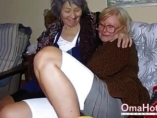 Omahotel Zwei Reife Lesben, Die Zusammen Spielen
