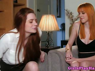 Ginger Lesbian Pussylicked Von American Babe
