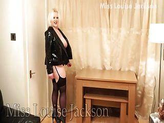 Louise Jackson In Pvc \u0026 Heels Strumpfhosen